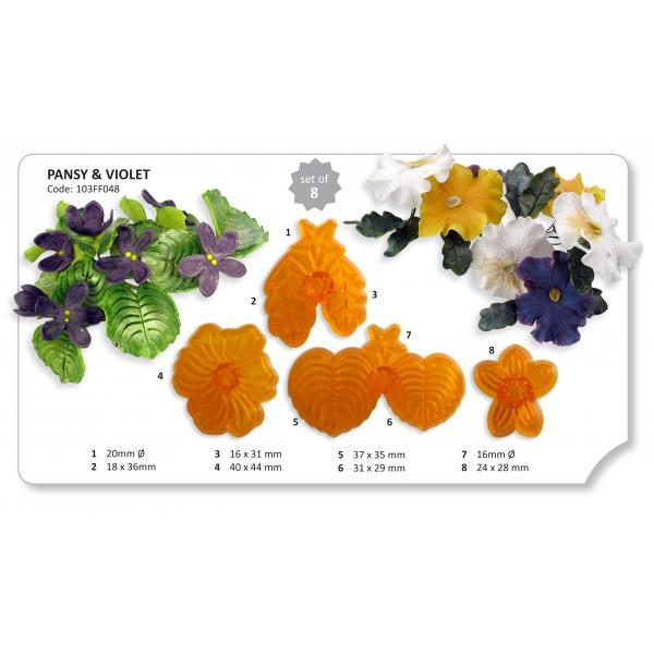 Pansy and Violet set 4 ks -30%