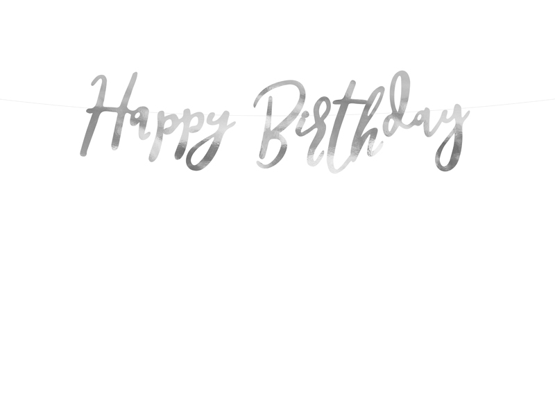 Baner Happy Birthday, 16,5 x 62 cm
