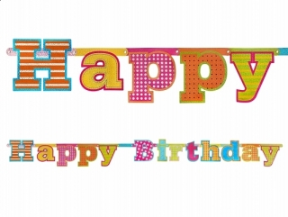 Baner Happy Birthday, 16 x 166 cm