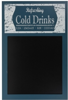 Kriedová tabuľa Cold Drinks Blue